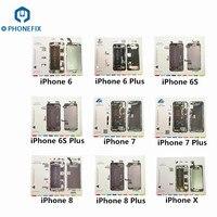 PHONEFIX 9 stücke Professionelle Magnetische Schraube Matte Technik Reparatur Pad Handy Öffnung Reparatur Matte Für iPhone X 8 8P 7 7P 6 6S-in Handwerkzeug-Sets aus Werkzeug bei