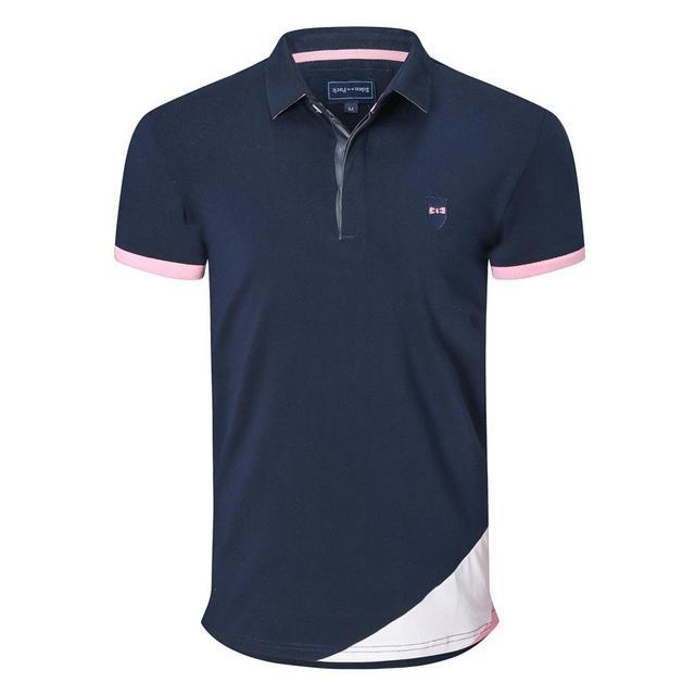 NEW Eden Men short Polo shirts France Homme Polo Classic Park solid Casual tops Cotton Comfortable Men Tees  plus size M- 3XL