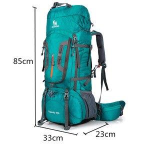 Image 3 - 2020 Camping Hiking Backpacks Big Outdoor Bag Backpack Nylon Superlight Sport Travel Bag Aluminum Alloy Support  80L