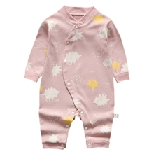 Newborn 100% Cotton Baby Romper Infant Toddler Floral Print Clothes Autumn Long Sleeve Kids Jumpsuit Baby Boy Girl Clothing 2017 newborn baby boy winter long sleeve cotton clothing toddler baby clothes romper warm cartoon jumpsuit for 0 12 months