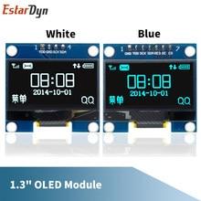 RoHS 1.3 inch OLED module white/blue SPI/IIC I2C Communicate color 128X64 1.3 inch OLED LCD LED Display Module 1.3