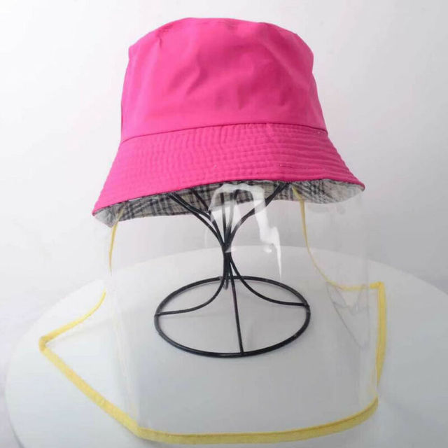 Anti Spitting Saliva Drool Fisherman Cap Dual-use Sun Hat Protective Face Shield Cover Hat with Detachable Clear Facial Mask 5