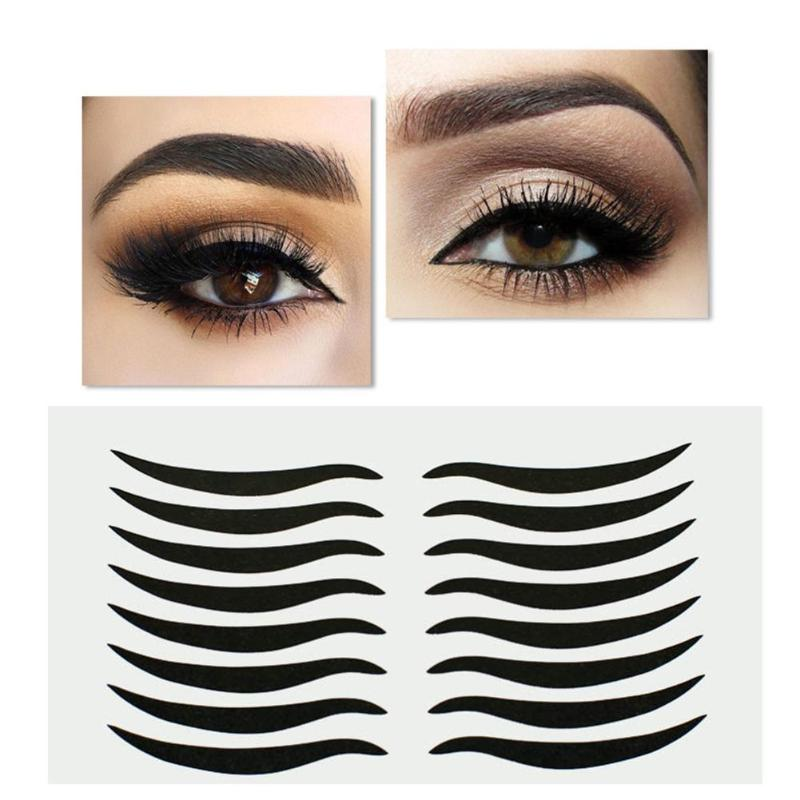 160pcs Black Eyelid Tools Sexy Cat Style Eyes Sticker Eyeliner Tape Beauty Eyeliner Sticker Makeup Tool