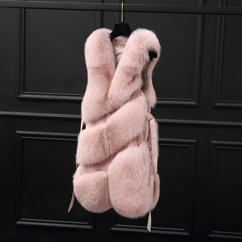 Fur Fox Real Coat Winter Jacket Women Natural Fur Vest Women Clothes 2020 Korean Pink Jackets Chaqueta Mujer MY3985 S