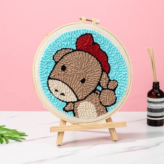 パンチ針漫画ペン魔法の刺繍クロスステッチキット刺繍裁縫セット生地 diy 工芸ミシンアクセサリー