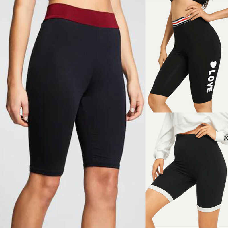 AU Womens Hot Pants Trouser Sports Shorts Yoga Gym Running Jogging Elastic Waist