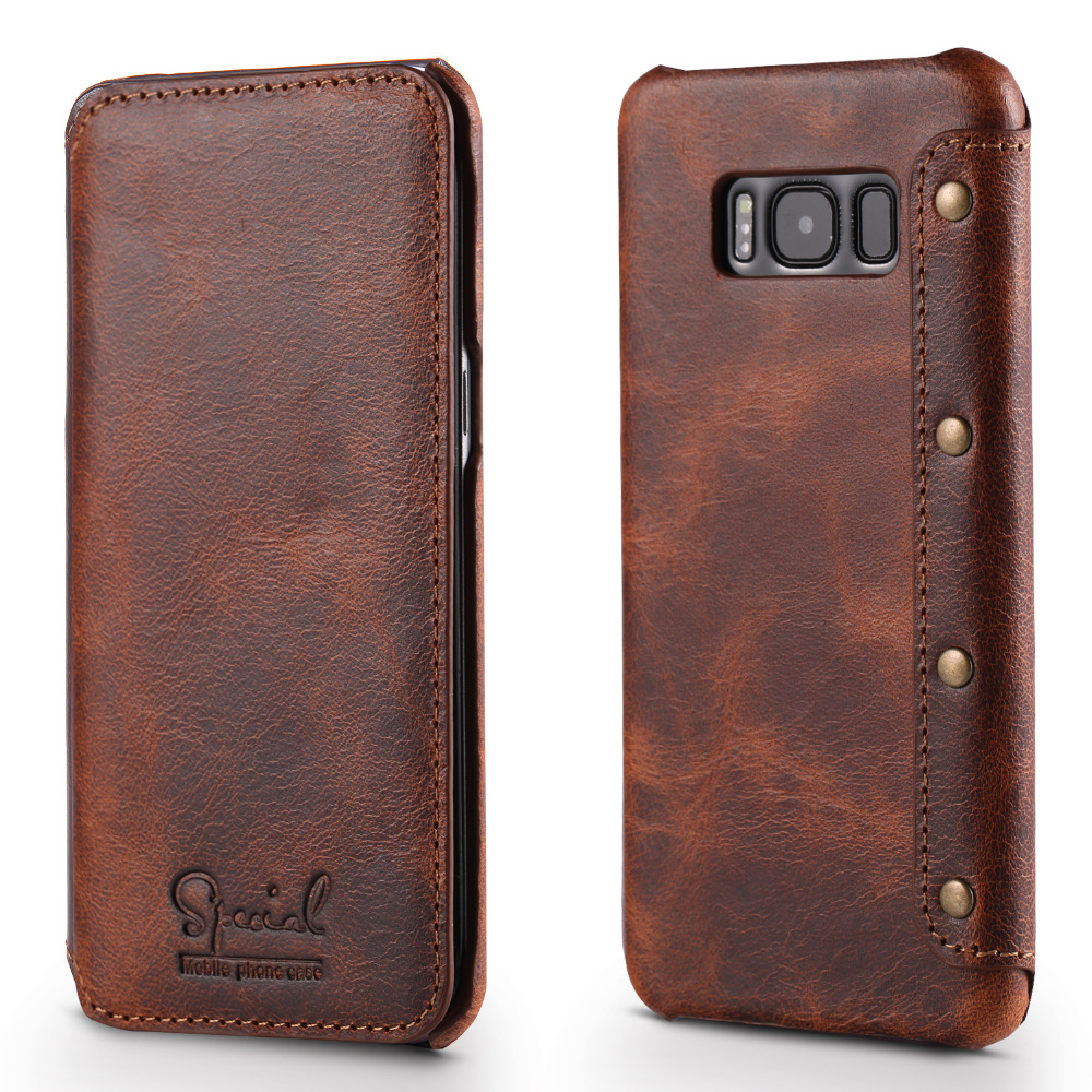 Real Leather for Samsung Galaxy S10 Plus Case S9Plus Note9 Coque Samsung S10Plus Case Flip Cover