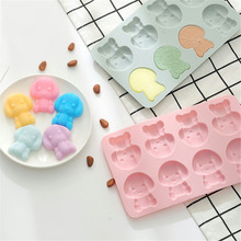 Cartoon Dog Chocolate Mold Silicone Molds Fondant Cake Decorating Tools DIY Candy Molds Baking Kitchen Accessories Food Grade ballet skirt cakes molds food grade silicone sugar chocolate cake cookies mold diy decorating baking tool