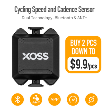 XOSS Cycling Computer Speedometer Speed and Cadence  ANT Bluetooth Bike Dual Sensor for iGPSPORT Bryton