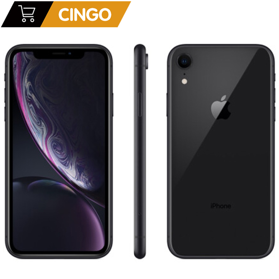 Original Apple iPhone XR débloqué téléphone portable d'origine 4G LTE 6.1 hexa-core 12MP & 7MP 2942mAh RAM 3GB ROM 64 GB/128 GB/256 GB