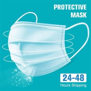 Image 2 - Противогаз пылезащитные маски со ртом для лица, маска для лица Mascherine Mascarillas de protecion защитная маска для лица 10 100 шт.
