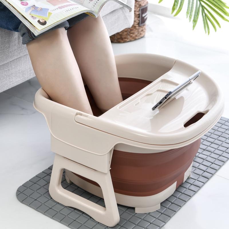 Складная Ванна для ног простое пенящееся массажное ведро для ног замачивающее ведро Бытовая пластиковая сауна ванна для педикюра банное ве...