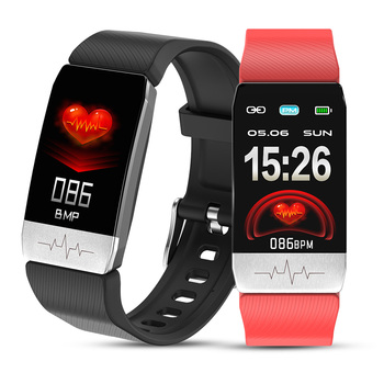 T1 Smart Watch Band Smart Bracelet Thermometer Body Temperature   ECG  Heart Rate Monitor  Waterproof Fitness Tracker