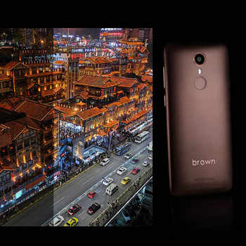 Proud Brown 1 Mobile Phone 2GB 16GB 4.7-inch Android 7.0 Quad Core 13MP 8MP 1800mAh Dual SIM Fingerprint Unlocked 4G Smartphone