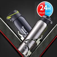 500ml Mountain Bike Riding Bicycle Water Bottles Double Stainless Steel Thermos Cup Warm keeping Water Cup Jug Sports Kettle|Bicycle Water Bottle| |  -