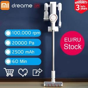 Image 1 - Plugue da ue xiaomi dreame v9 v9p aspirador de pó handheld vara sem fio aspirador 400 w 20000 pa de xiaomi youpin para casa carro