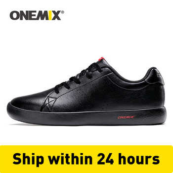 ONEMIX Casual Flat Skateboard Shoes Men Sneakers Leather Skateboarding Shoes Classic Outdoor Lightweight Walking Tenis Shoes - DISCOUNT ITEM  22 OFF Sports & Entertainment