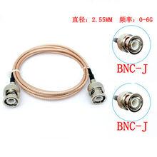 Adaptador de vídeo Coaxial RG316 50 ohm, BNC macho a BNC Cable Coaxial para cámara SDI sistema de cámara de seguridad CCTV D