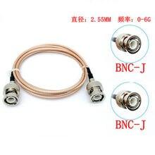 Adaptador de vídeo coaxial rg316, 50 ohm, bnc macho a bnc, cabo coaxial para cámara sdi, sistema de segurança cctv, d