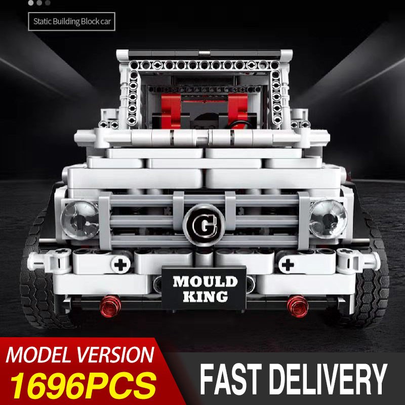 Technic Static Car Bricks 13069 Benz SUV G65 White off-road vehicle Model Kit Building Blocks Kids Toys Compatible with Legoing image