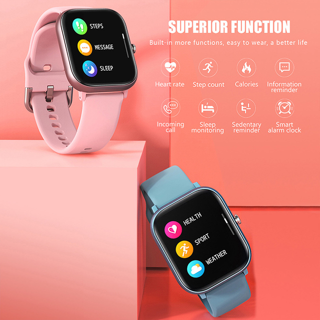 SQR P8 SE Smart Watch Men Women 1.4 Inch Fitness Tracker Full Touch Screen Ip67 Waterproof Heart Rate  Monitor for iOS Android 3
