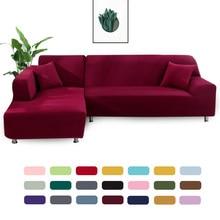 Funda geométrica para sofá, cubierta elástica para sala de estar, mascotas, esquina en forma de L, funda de sofá larga, 1 ud.