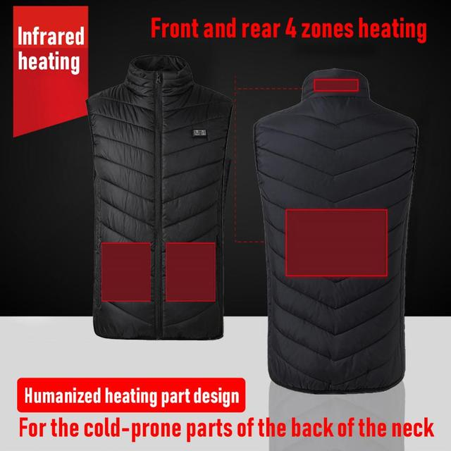4 зоны нагрева жилетка usb зарядки термальность изоляции отопление фотография