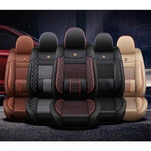Image 5 - جديد الجلد و الجليد الحرير مقعد السيارة يغطي ل Volkswagen 4 5 6 7 vw passat b5 b6 b7 بولو جولف mk4 تيجوان جيتا طوارق اكسسوارات