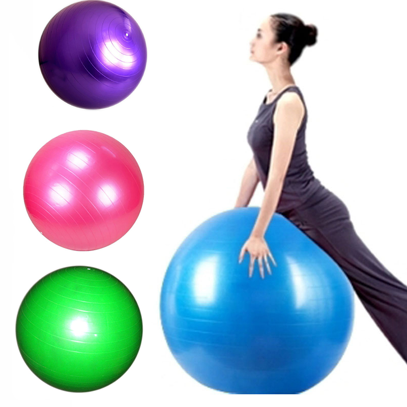 Sports Yoga Balls Bola Pilates Fitness Birthing Ball Gym Exercise Fitball Balance Training Home Workout Massage Ball Pump image