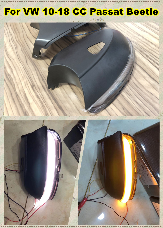 Dynamic Mirror Indicator Blinker Side LED Turn Signal Light Fit For For V W 10-18CC Passat B7 Scirocco 09+ MK3 Beetle 12-18