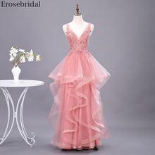 Женское длинное вечернее платье с жемчужинами erosebridal Многоярусное