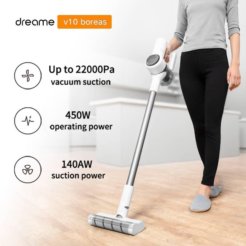 Dreame v10 handheld aspirador de pó sem fio portátil filtro ciclone tapete coletor poeira varrer casa