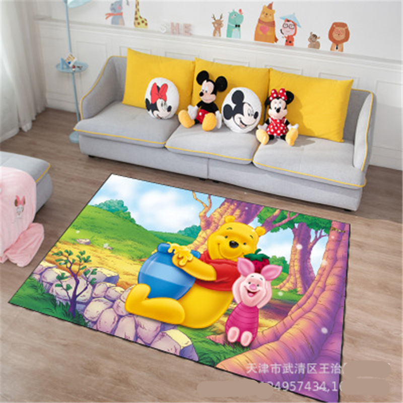 Disney Cartoon Winnie Carpet Mat Kids Boys Girls Game Mat Bedroom Kitchen Carpet Indoor Bathroom Mat Gift