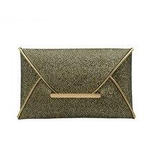 Для женщин Мода Конверт вечерняя сумочка; BS010 Сияющие Блестки Ткань однотонный дизайнерская сумка-клатч-кошелек Современная Сумочка для Вечерние Банкетный леди