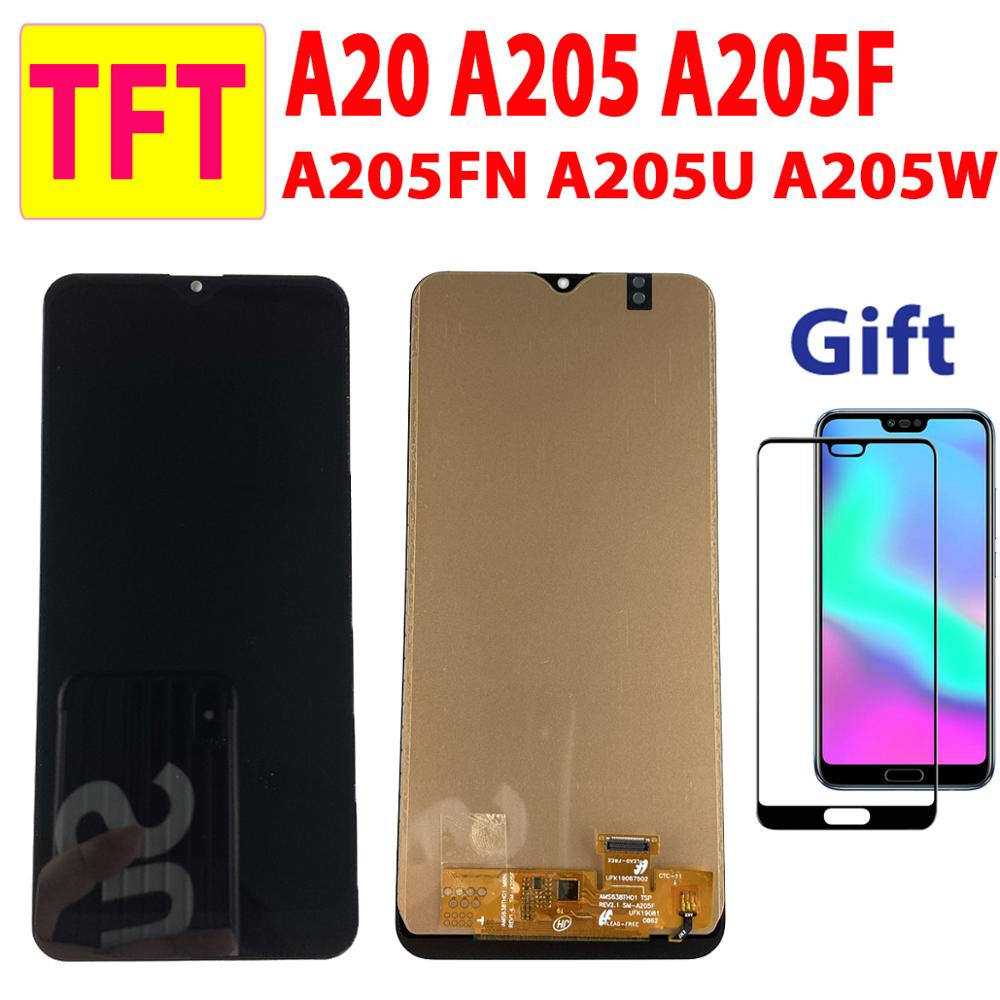 6.4'' TFT Test For <font><b>Samsung</b></font> <font><b>Galaxy</b></font> <font><b>A20</b></font> A205 A205FN <font><b>LCD</b></font> Display Touch Screen Digitizer For <font><b>Samsung</b></font> A205F A205W Assembly <font><b>LCD</b></font> <font><b>A20</b></font> image