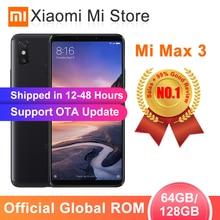 """Глобальная ПЗУ Xiaomi Mi Max 3 4 Гб 64 Гб/6 ГБ 128 Гб Смартфон Snapdragon 636 Восьмиядерный 6,"""" 2160x1080 полный экран Двойная камера 5500 мАч"""