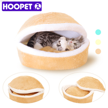 Hamburger shaped assemblability cat nest shell hiding windproof for autumn and winter