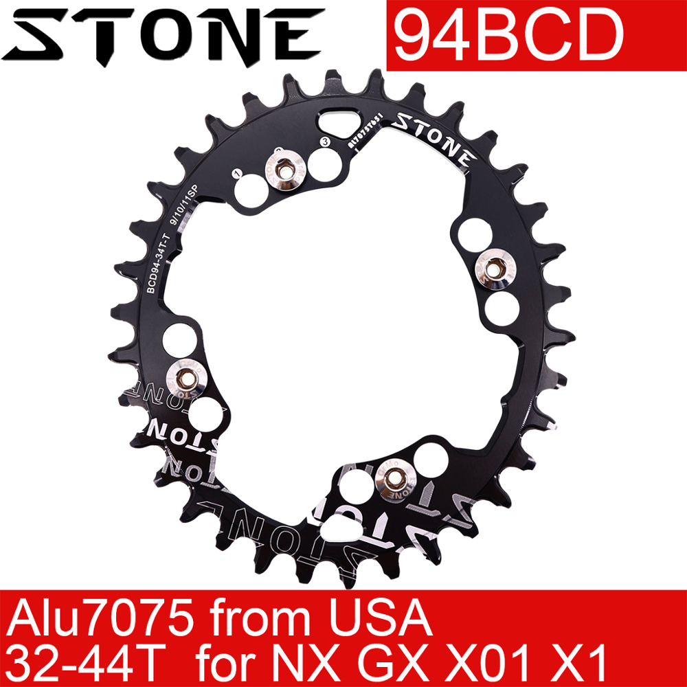 Stone Chainring Oval 94BCD for sram NX GX X1 X01 For K force <font><b>32T</b></font> 34T 36 38 40 42 44T Cycling MTB Bike Chainwheel Bicycle 94 bcd image