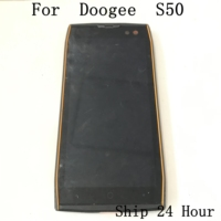 Doogee S50 Used LCD Display Screen + Touch Screen + Frame+Receiver Speaker For Doogee S50 MTK6750T Octa Core 6G+64G 5.5HD
