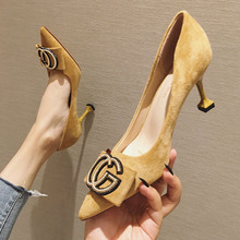 2020 Spring New Style Online Celebrity Pointed-Toe High Heel Shoes
