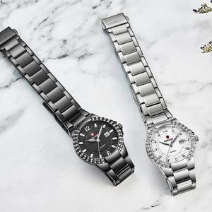 Image 3 - 2019 frauen Luxus Kleid Uhr Kristalle Zirkon Damen Uhren Wasserdicht Voller Stahl TOP Marke Weibliche Armbanduhr Neue Mode Party