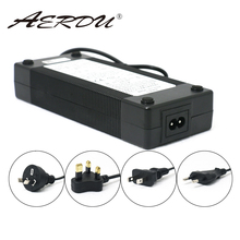 AERDU 10S 42V 3A 36V 리튬 이온 배터리 팩 충전기 5.5*2.1mm 유니버셜 AC DC 전원 어댑터 EU/US/AU/UK 플러그