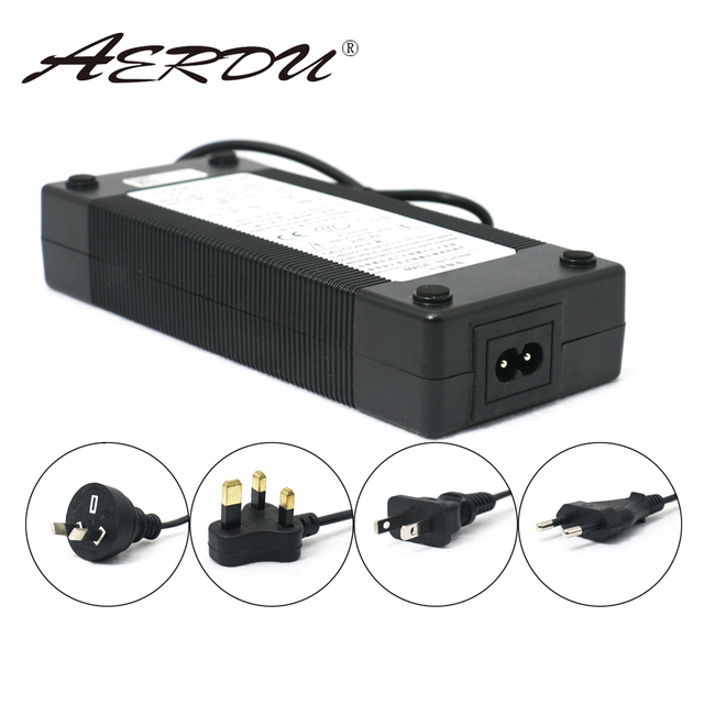 AERDU 10S 42V 3A 36V Lithium ion battery pack charger 5.5*2.1mm Universal AC DC Power Supply Adapter EU/US/AU/UK Plug