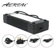 AERDU 10S 42V 3A 36V akumulator litowo jonowy ładowarka 5.5*2.1mm uniwersalny AC DC Adapter do zasilacza ue/US/AU/UK wtyczka