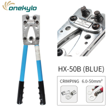 цена на HX-50B large Y.O terminal crimping pliers wire terminal connectors tool copper tube machine wire cable Crimping plier