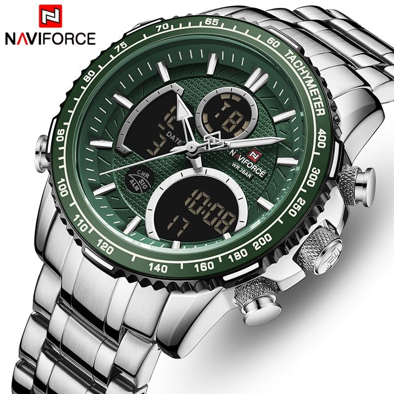 NAVIFORCE Luxury Brand Watch Men Fashion Sport Quartz Watches Mens Stainless Steel Waterproof Luminous Wrist Watches Clock Reloj