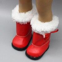 1 paar Plüsch Puppe Winter Schnee Stiefel Für 43cm Baby Puppe Und 18 Zoll Mädchen Puppe Mini Schuhe Für weihnachten Geschenk 150