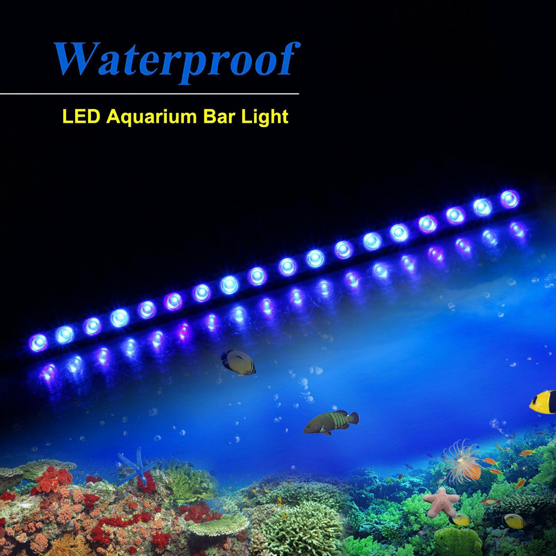 Popular tira de luz Led para acuario de 54W con forma de barra con espectro azul de 470nm para acuario de arrecife de coral