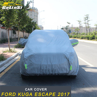 GELINSI Car Covers Waterproof Outdoor Sun Protection Cover Reflector Dust Rain Snow Protective For Ford KUGA Escape 2017 2018