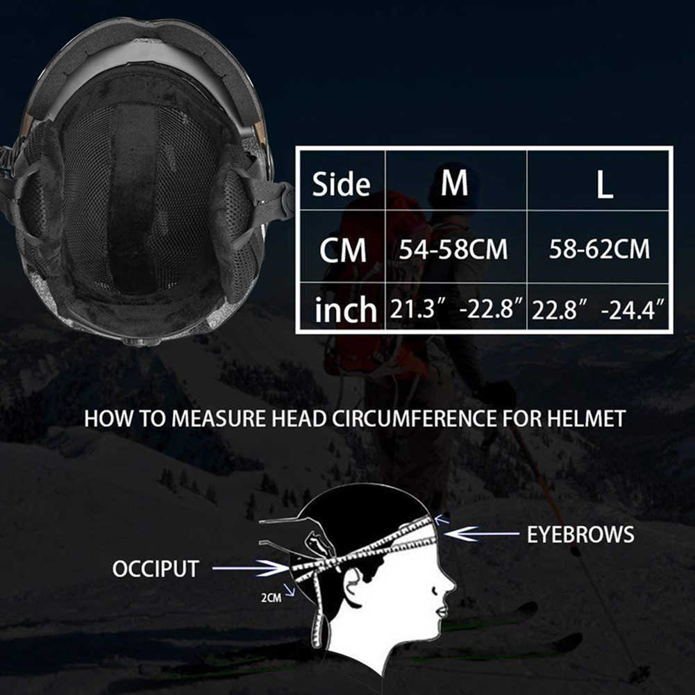 Inverno Caldo di Snowboard Sci di Sicurezza Slitta Slitta Scooter Casco di Protezione Cap Mezza-Coperto Casco da Sci con Gli Occhiali di Protezione Visiera